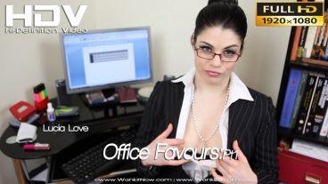 "Lucia Love ""Office Favours:Pt1"""