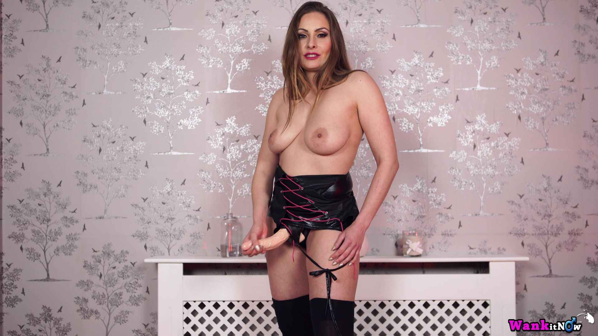 image Sophia delane strips and teases the camera